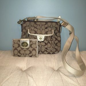 Coach Crossbody Purse with matching wallet!